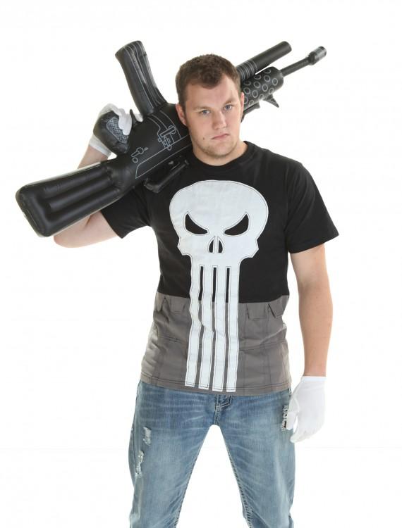 Costume Punisher T-Shirt, halloween costume (Costume Punisher T-Shirt)