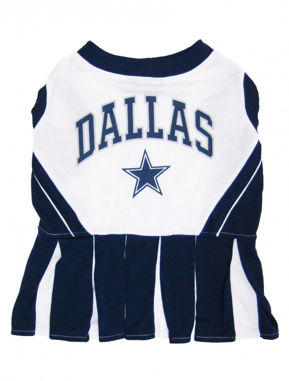 Dallas Cowboys Dog Cheerleader Outfit, halloween costume (Dallas Cowboys Dog Cheerleader Outfit)