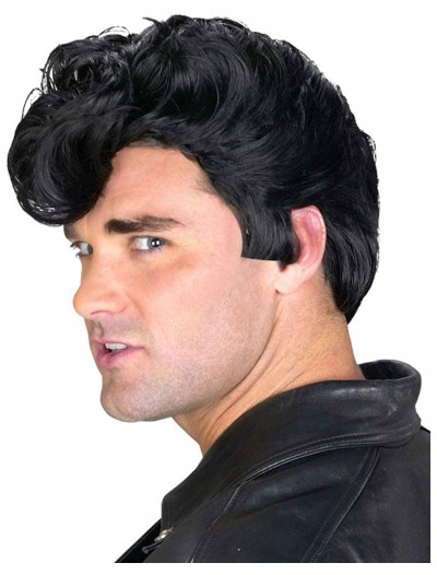 Mens 50s Greaser Wig, halloween costume (Mens 50s Greaser Wig)