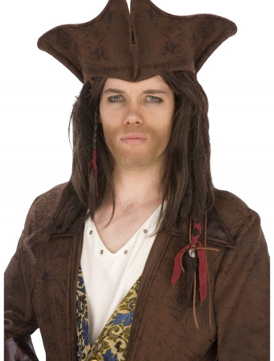 Dark Brown Pirate Hat, halloween costume (Dark Brown Pirate Hat)