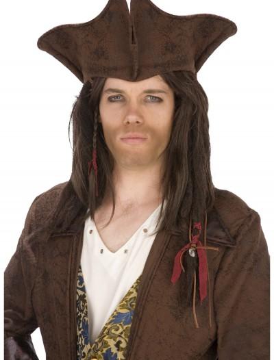 Dark Brown Pirate Hat, halloween costume (Dark Brown Pirate Hat)