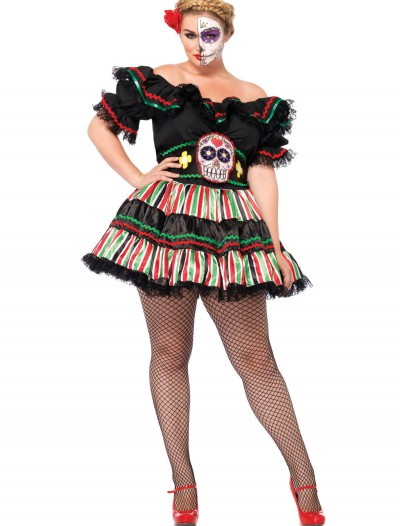 Day of the Dead Doll Plus Size, halloween costume (Day of the Dead Doll Plus Size)