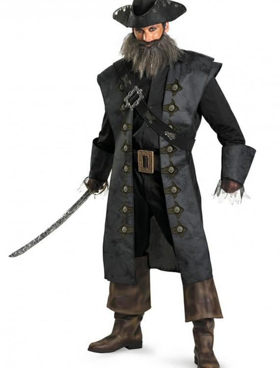 Deluxe Adult Blackbeard Costume, halloween costume (Deluxe Adult Blackbeard Costume)