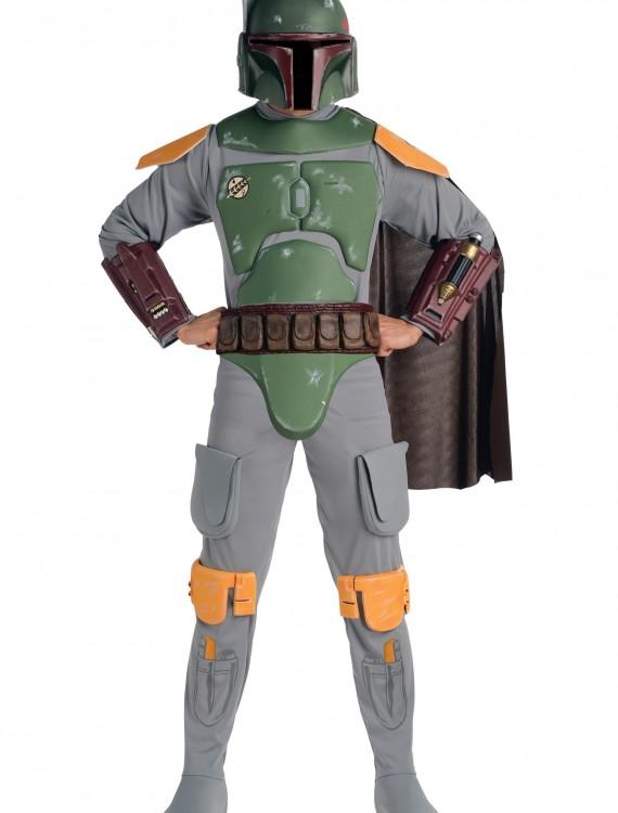 Deluxe Adult Boba Fett Costume, halloween costume (Deluxe Adult Boba Fett Costume)