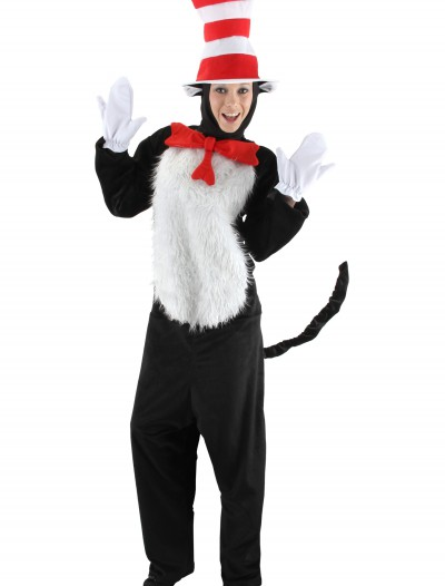 Deluxe Adult Cat in the Hat Costume, halloween costume (Deluxe Adult Cat in the Hat Costume)