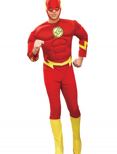 Deluxe Adult Flash Costume, halloween costume (Deluxe Adult Flash Costume)