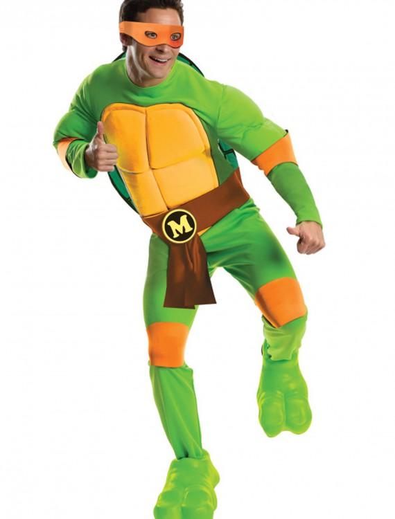 Deluxe Adult Michelangelo, halloween costume (Deluxe Adult Michelangelo)