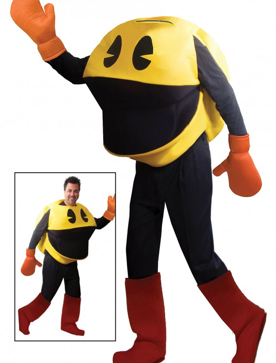 Deluxe Adult Pac Man Costume, halloween costume (Deluxe Adult Pac Man Costume)