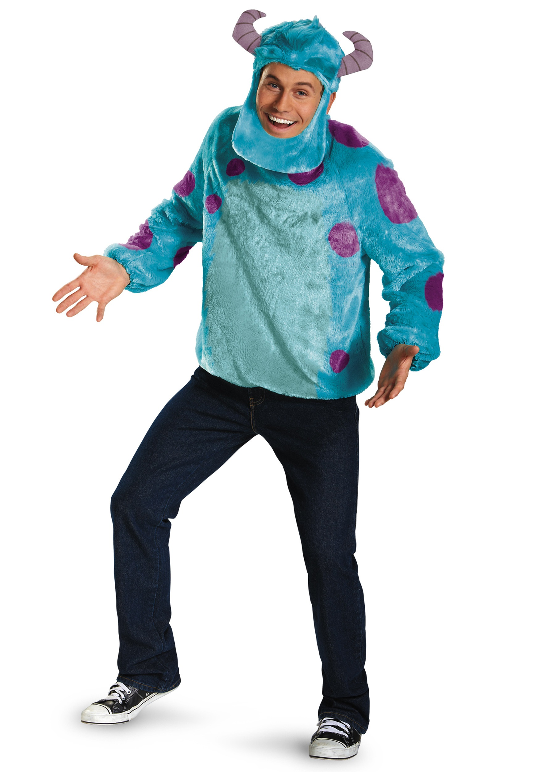 deluxe adult sulley costume - halloween costumes