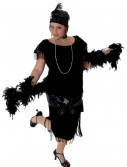 Deluxe Black Plus Size Flapper, halloween costume (Deluxe Black Plus Size Flapper)
