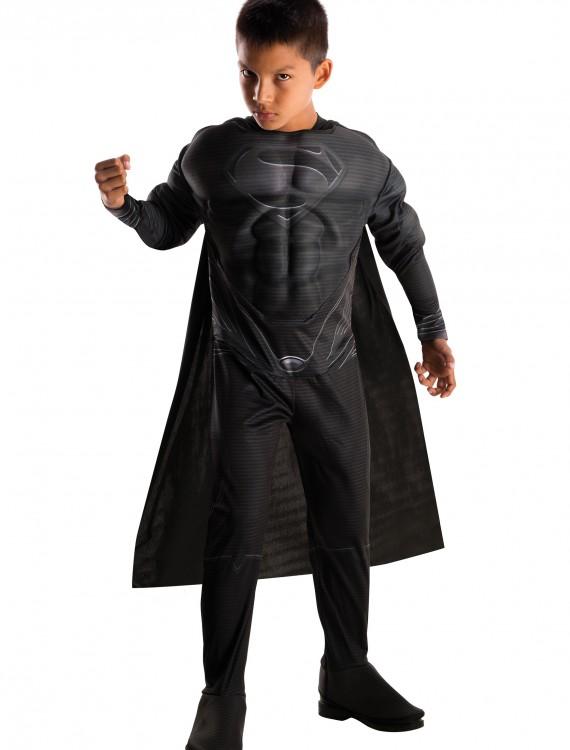 Deluxe Boys Black Suit Superman Costume, halloween costume (Deluxe Boys Black Suit Superman Costume)