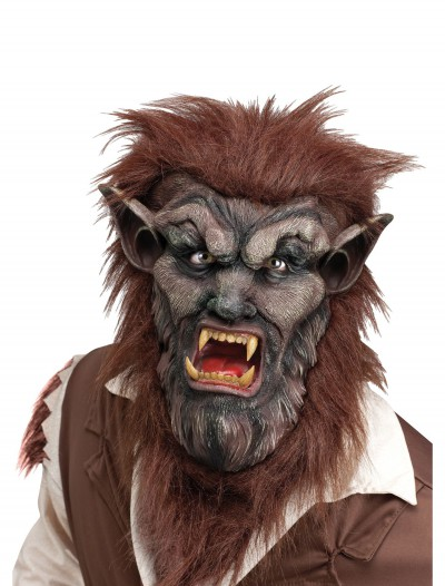 Deluxe Brown Wolf Man Mask, halloween costume (Deluxe Brown Wolf Man Mask)