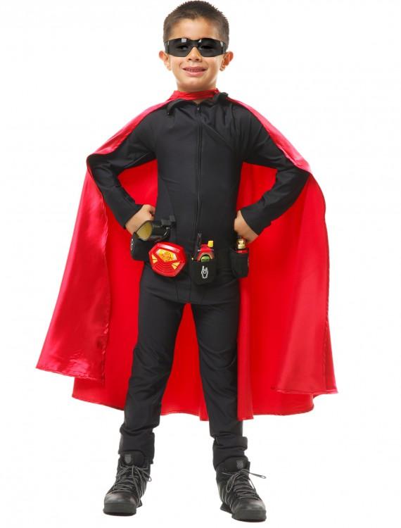 Deluxe Child Red Superhero Cape, halloween costume (Deluxe Child Red Superhero Cape)