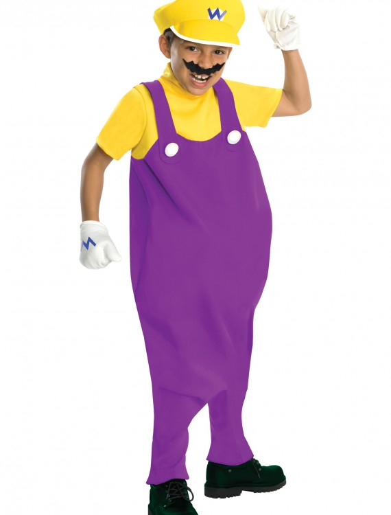 Deluxe Child Wario Costume, halloween costume (Deluxe Child Wario Costume)