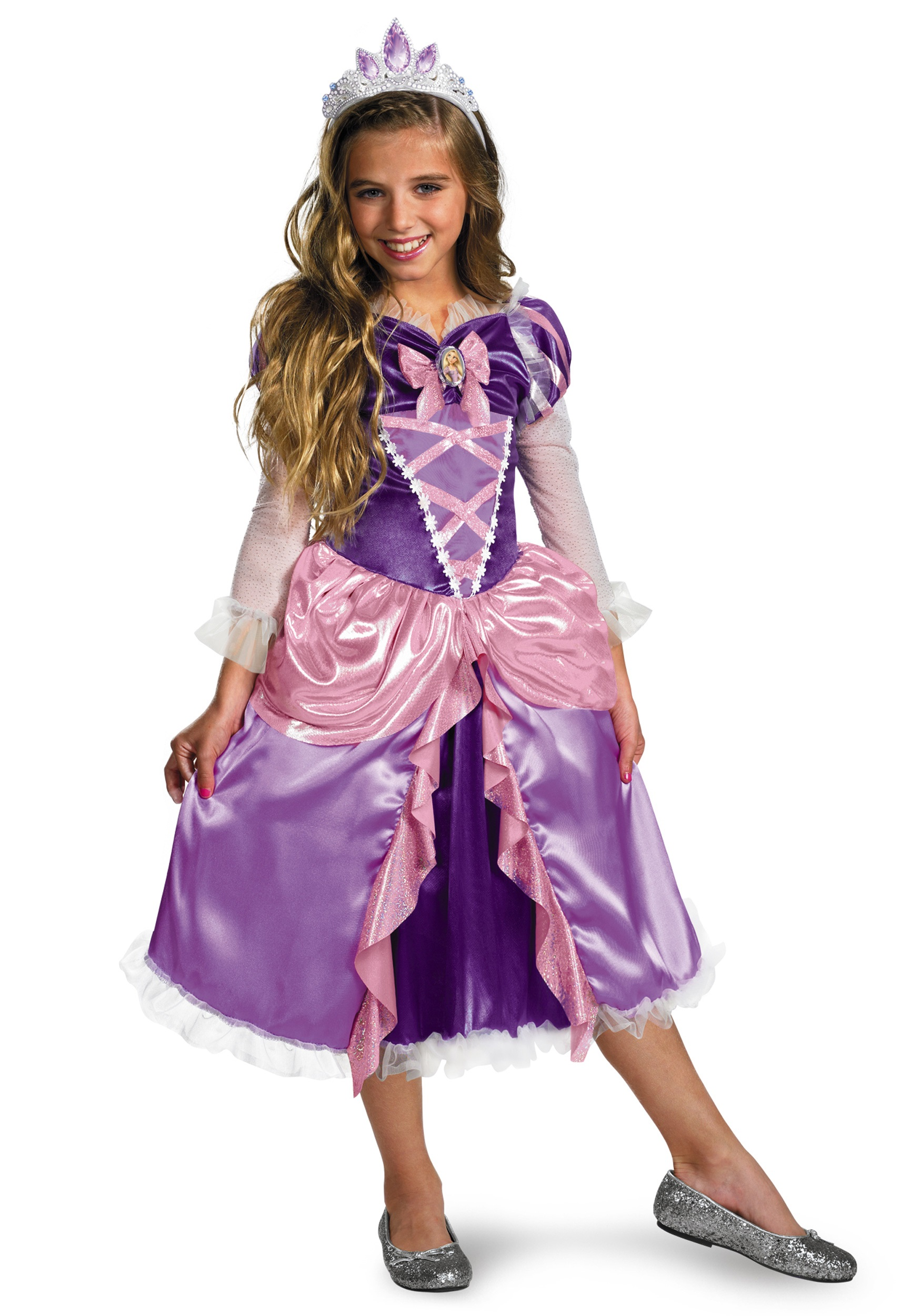 Deluxe Girls Tangled Rapunzel Costume  sc 1 st  Halloween Costumes & Deluxe Girls Tangled Rapunzel Costume - Halloween Costumes