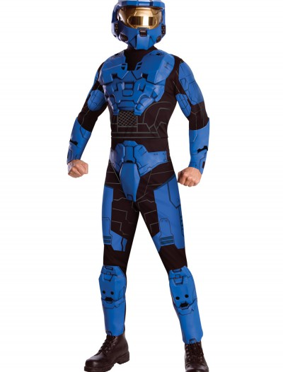 Deluxe Halo Blue Spartan Costume, halloween costume (Deluxe Halo Blue Spartan Costume)