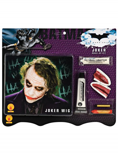 Deluxe Joker Wig & Makeup Kit, halloween costume (Deluxe Joker Wig & Makeup Kit)