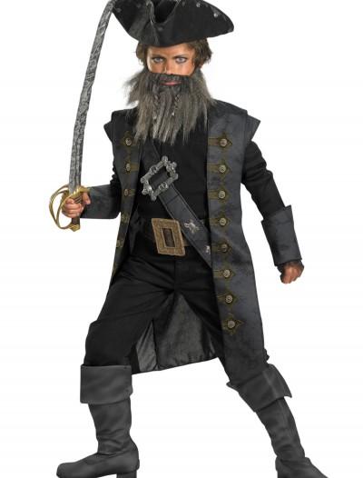 Deluxe Kids Blackbeard Costume, halloween costume (Deluxe Kids Blackbeard Costume)