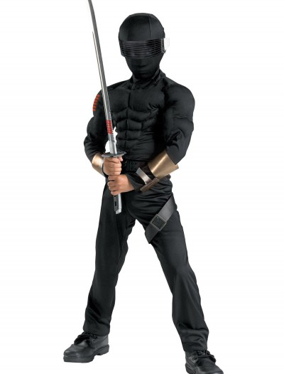 Deluxe Kids Snake Eyes Costume, halloween costume (Deluxe Kids Snake Eyes Costume)