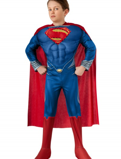 Deluxe Lite Up Man of Steel Superman Child Costume, halloween costume (Deluxe Lite Up Man of Steel Superman Child Costume)
