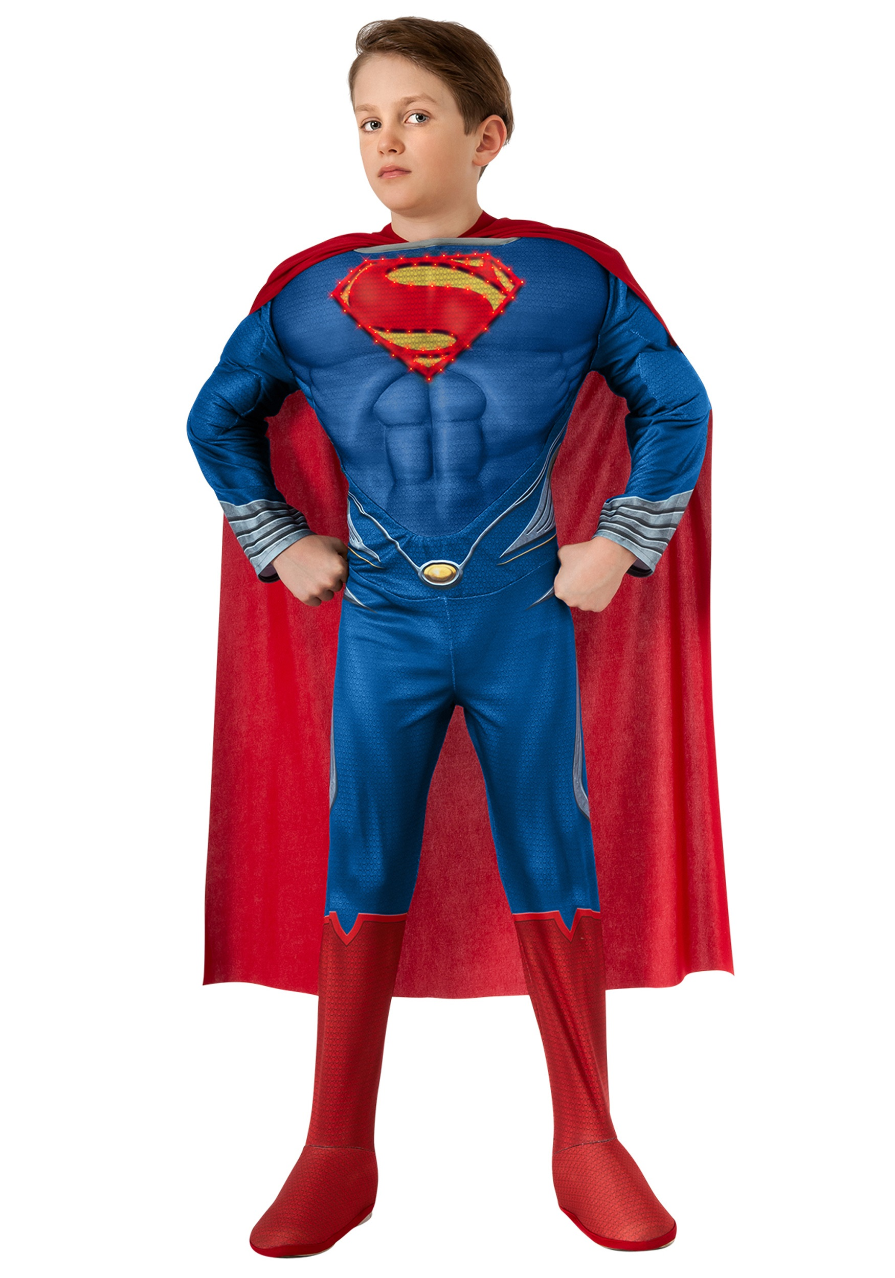 deluxe lite up man of steel superman child costume - halloween costumes
