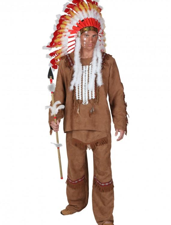 Deluxe Men's Indian Costume, halloween costume (Deluxe Men's Indian Costume)