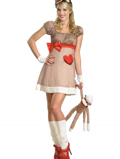 Deluxe Miss Sock Monkey Costume, halloween costume (Deluxe Miss Sock Monkey Costume)