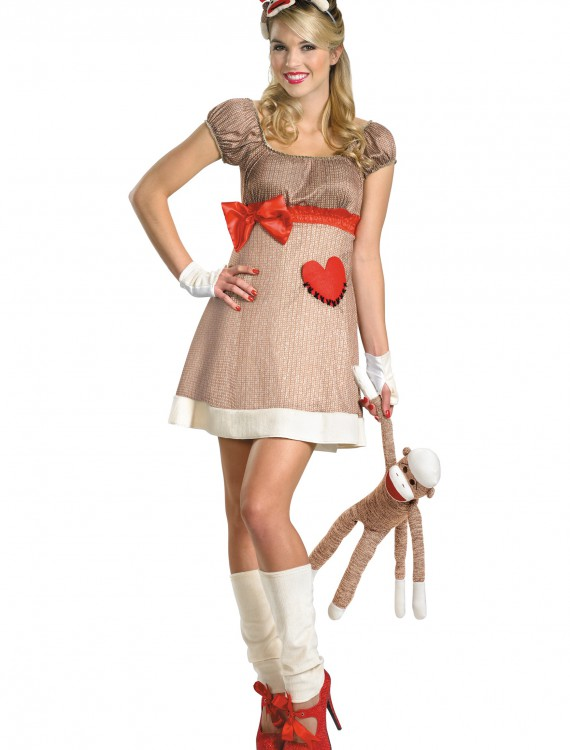 Deluxe Miss Sock Monkey Costume, halloween costume (Deluxe Miss Sock Monkey Costume)