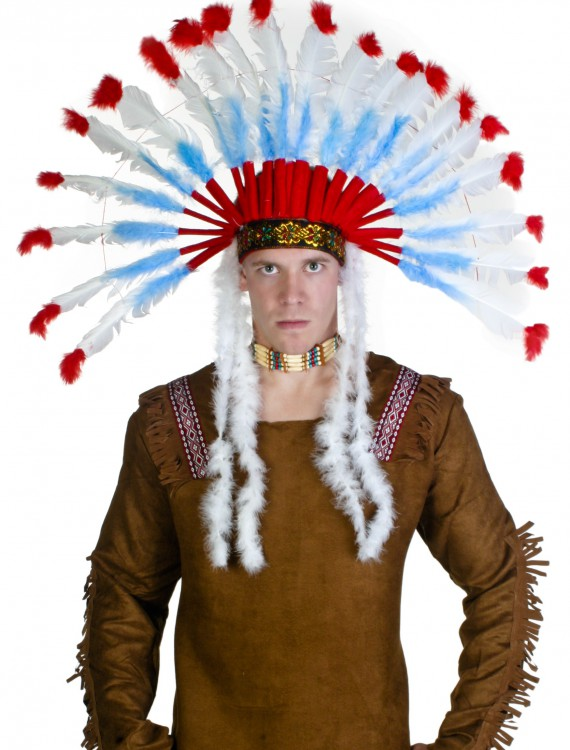 Deluxe Native American Headdress, halloween costume (Deluxe Native American Headdress)