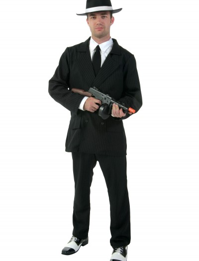 Deluxe Pin Stripe Gangster Suit, halloween costume (Deluxe Pin Stripe Gangster Suit)