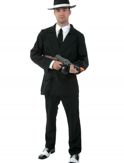 Deluxe Pin Stripe Gangster Suit, halloween costume (Deluxe Pin Stripe Gangster Suit)