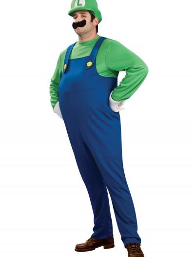 Deluxe Plus Size Luigi Costume, halloween costume (Deluxe Plus Size Luigi Costume)