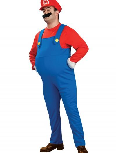 Deluxe Plus Size Mario Costume, halloween costume (Deluxe Plus Size Mario Costume)