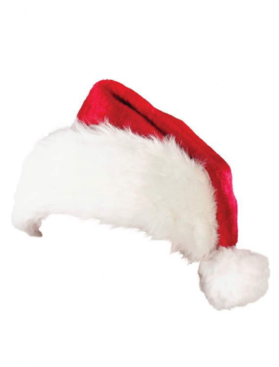 Deluxe Plush Santa Hat, halloween costume (Deluxe Plush Santa Hat)