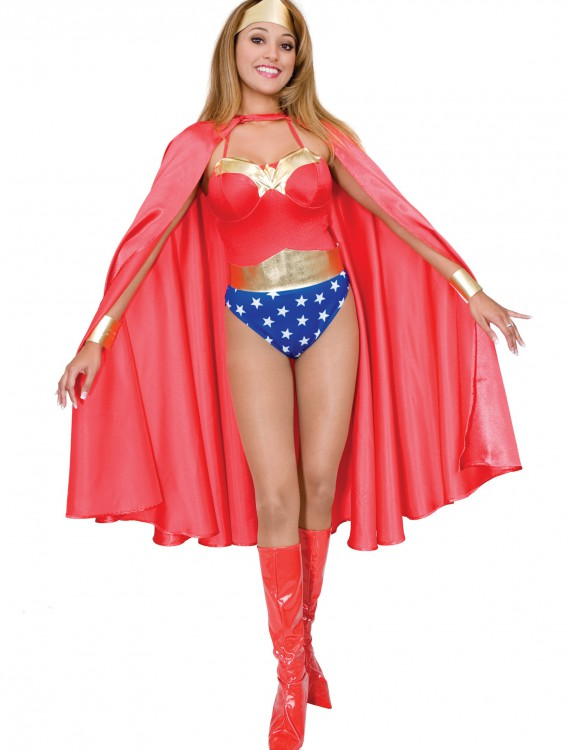 Deluxe Red Superhero Cape, halloween costume (Deluxe Red Superhero Cape)