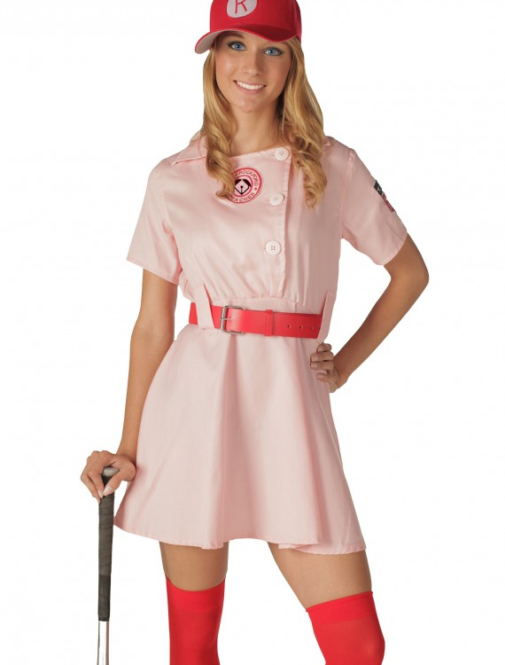 Deluxe Rockford Peaches Costume, halloween costume (Deluxe Rockford Peaches Costume)