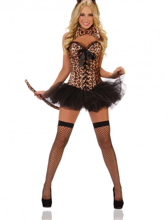 Deluxe Sexy Leopard Costume, halloween costume (Deluxe Sexy Leopard Costume)