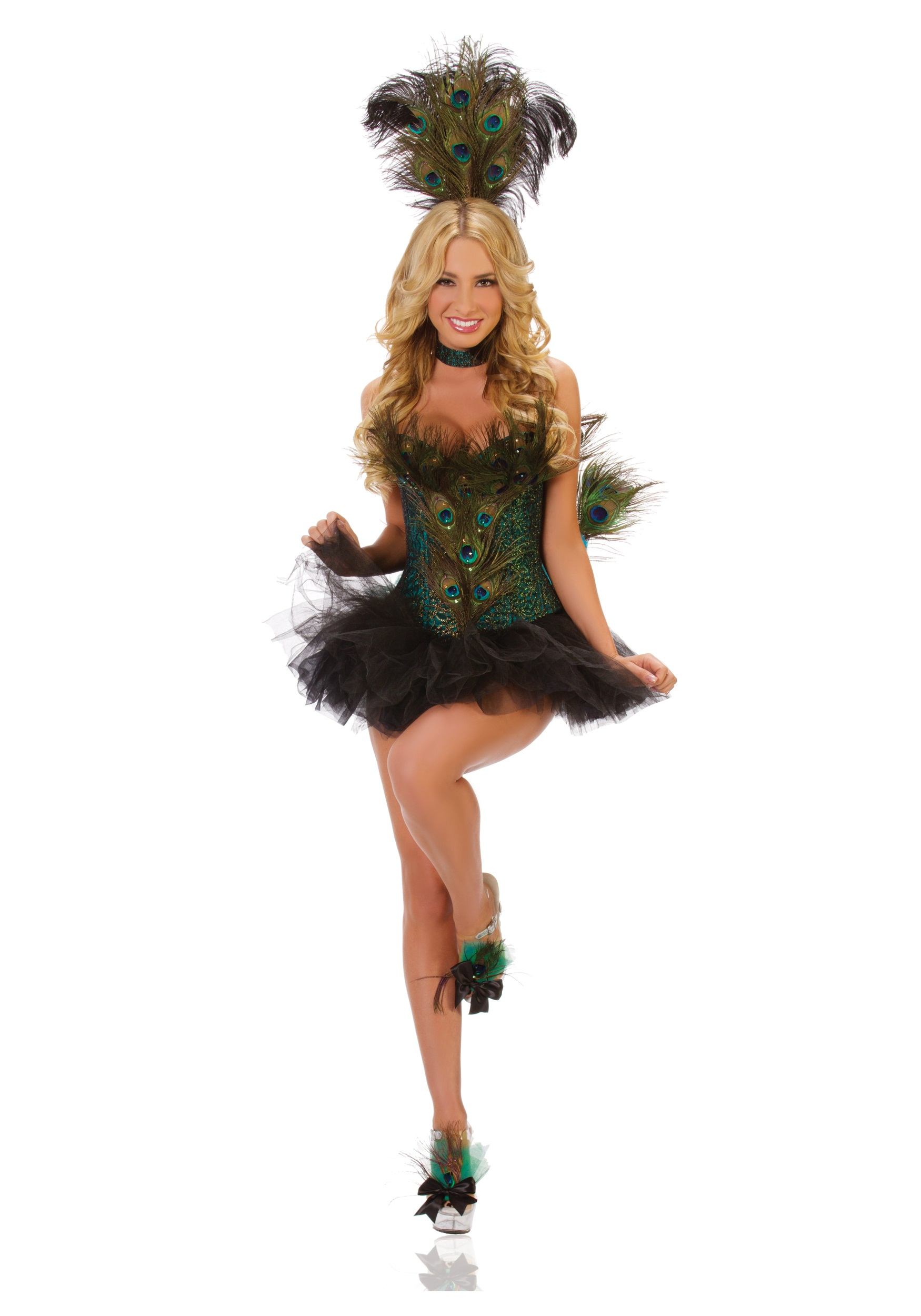 Deluxe Sexy Peacock Costume  sc 1 st  Halloween Costumes : safari costume adults  - Germanpascual.Com