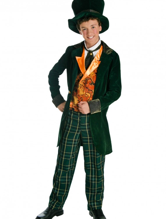 Deluxe Teen Mad Hatter Costume, halloween costume (Deluxe Teen Mad Hatter Costume)
