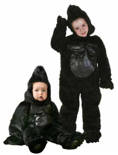 Deluxe Toddler Gorilla Costume, halloween costume (Deluxe Toddler Gorilla Costume)