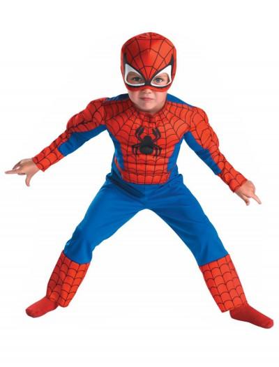 Deluxe Toddler Spiderman Costume, halloween costume (Deluxe Toddler Spiderman Costume)