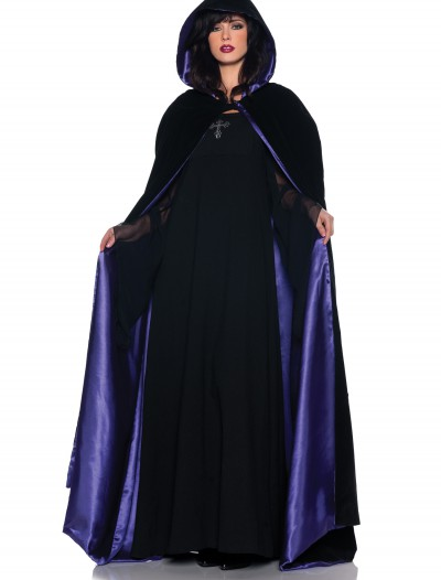 Deluxe Velvet and Purple Satin Long Cape, halloween costume (Deluxe Velvet and Purple Satin Long Cape)