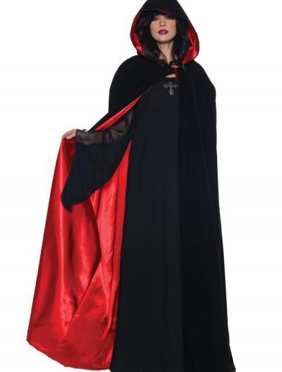 Deluxe Velvet Cape w/ Red Satin Lining, halloween costume (Deluxe Velvet Cape w/ Red Satin Lining)