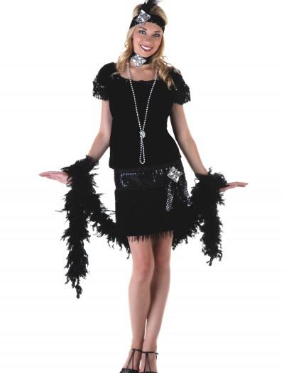 Deluxe Velvet Flapper Costume, halloween costume (Deluxe Velvet Flapper Costume)