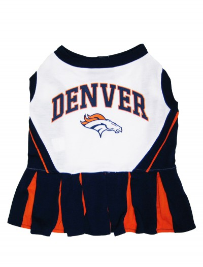 Denver Broncos Dog Cheerleader Outfit, halloween costume (Denver Broncos Dog Cheerleader Outfit)