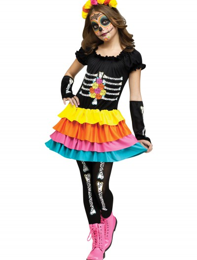 Dia De Los Muertos Child Costume, halloween costume (Dia De Los Muertos Child Costume)