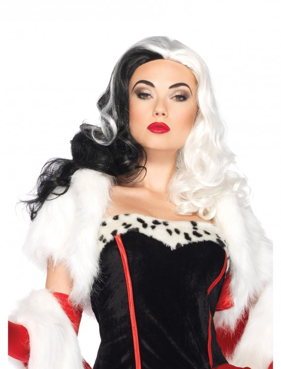 Disney Cruella Wig, halloween costume (Disney Cruella Wig)