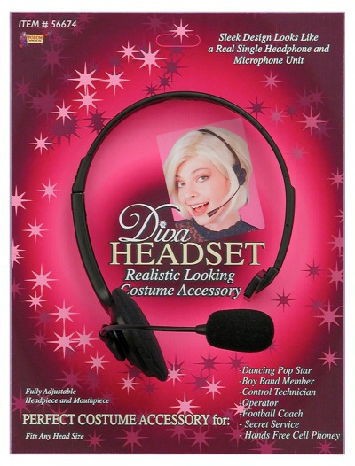 Diva Headset with Microphone, halloween costume (Diva Headset with Microphone)