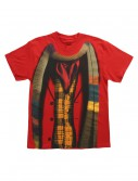 Doctor Who 4th Doctor Costume T-Shirt, halloween costume (Doctor Who 4th Doctor Costume T-Shirt)