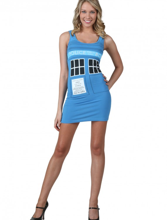 Doctor Who Police Box Tunic Tank, halloween costume (Doctor Who Police Box Tunic Tank)